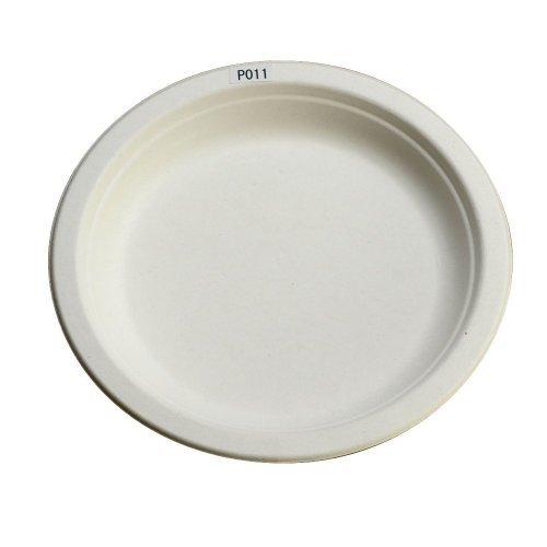 使い捨て 丈夫な紙皿 エコでおしゃれな eモールド プレート 18cm P011 100枚入...