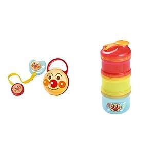 【セット買い】レック AN おしゃぶりセット M (月齢 3~6ヶ月) アンパンマン Mサイズ セット KK-178 & アンパンマン 2WAY ミルクケース (離乳食保存兼用) KK-181