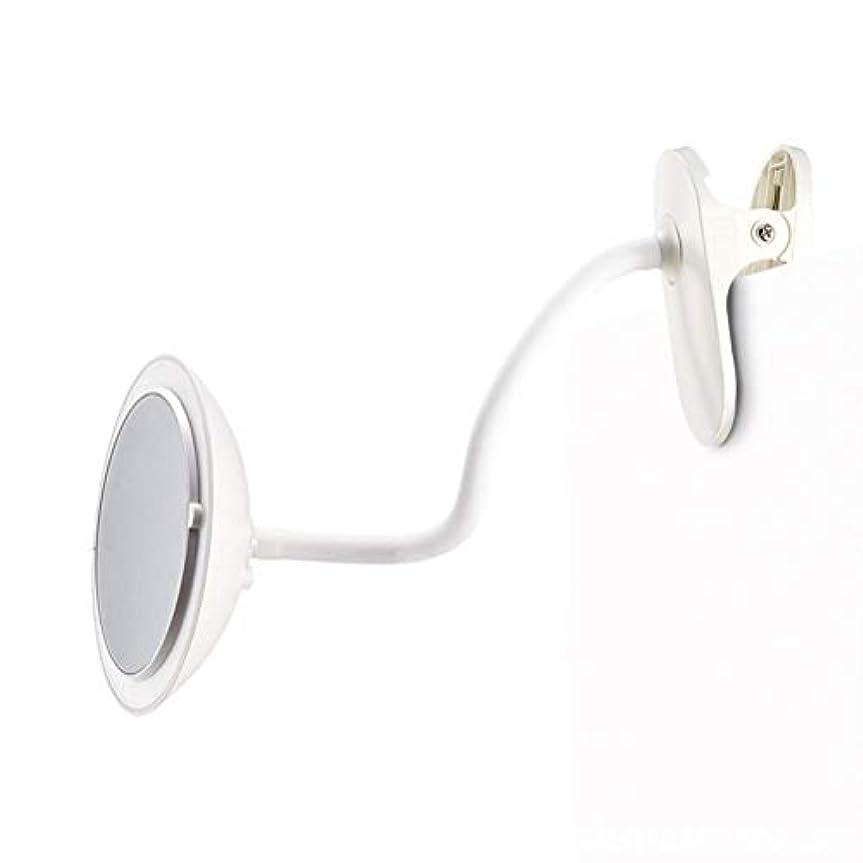 実質的に宝豪華なクリップタイプLED化粧鏡付き5倍ミラー調整可能な柔軟なグースネック360°回転3つの明るさ調整両面化粧鏡ホワイト