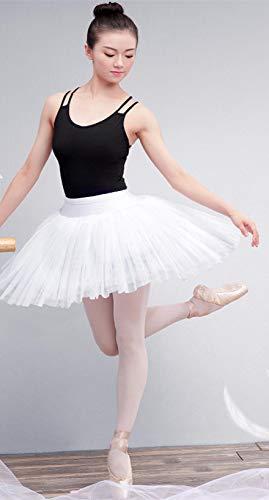チュチュスカート 演出服 レディーススカート 大人用 ショートスカート ふんわり フリフリ パニエ バレエ ダンス 練習着 4重チュール (白)