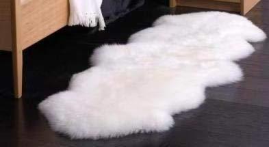 RoomClip商品情報 - セール 16800円→7480円 ムートン長毛ピースラグ2匹物 ムートンラグ ニュージーランド・オーストラリア産 天然羊毛 天然ムートン100% 子羊2匹もの