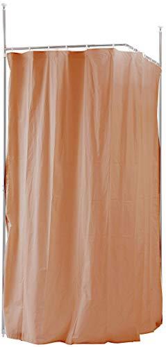 目隠しカーテン 突っ張りパーティション ブラウン 茶色 つっぱりパーテーション 間仕切りカーテン パーテーション おしゃれ 日本製 オフィスパーテーション (ブラウン, L字コーナー型)
