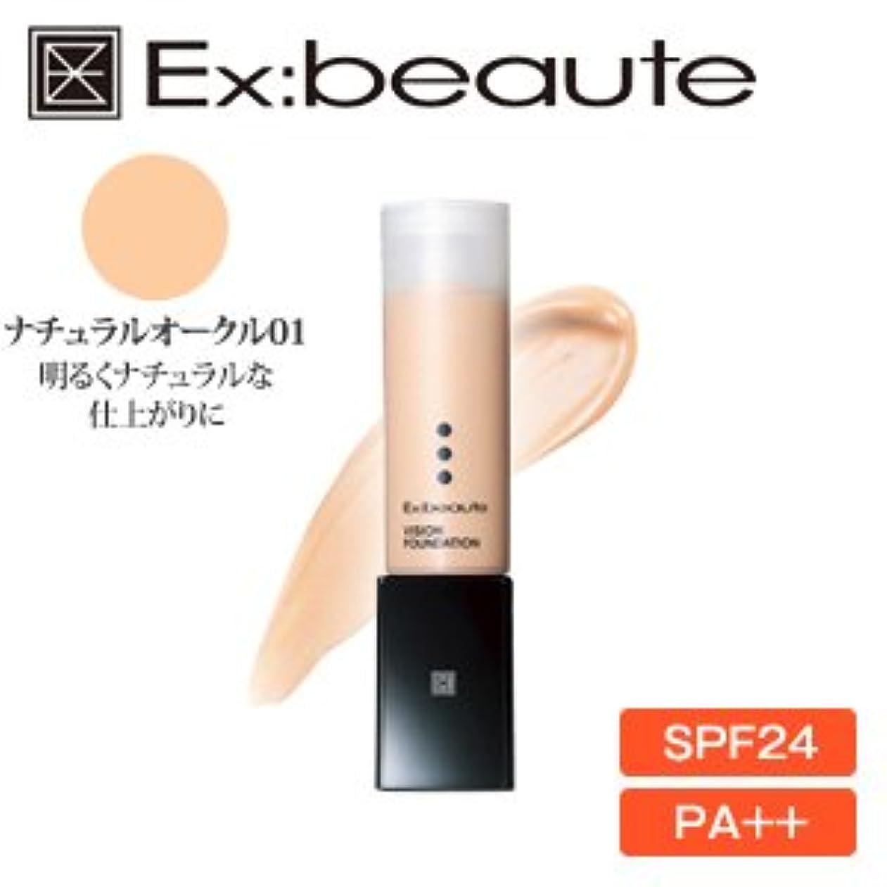 呼吸するなかなか文房具Ex:beaute (エクスボーテ) ビジョンファンデーション リキッドモイストタイプ ナチュラルオークル01