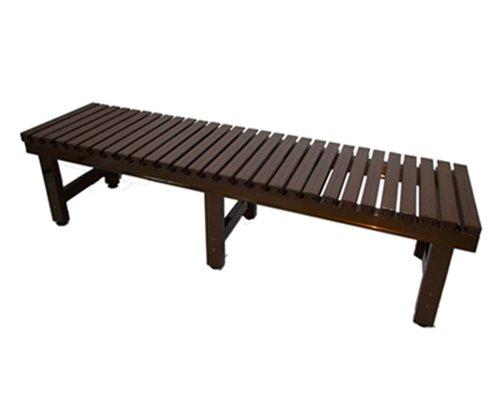 偽木風樹脂製座面の『アルミ濡れ縁』JTNE-1860