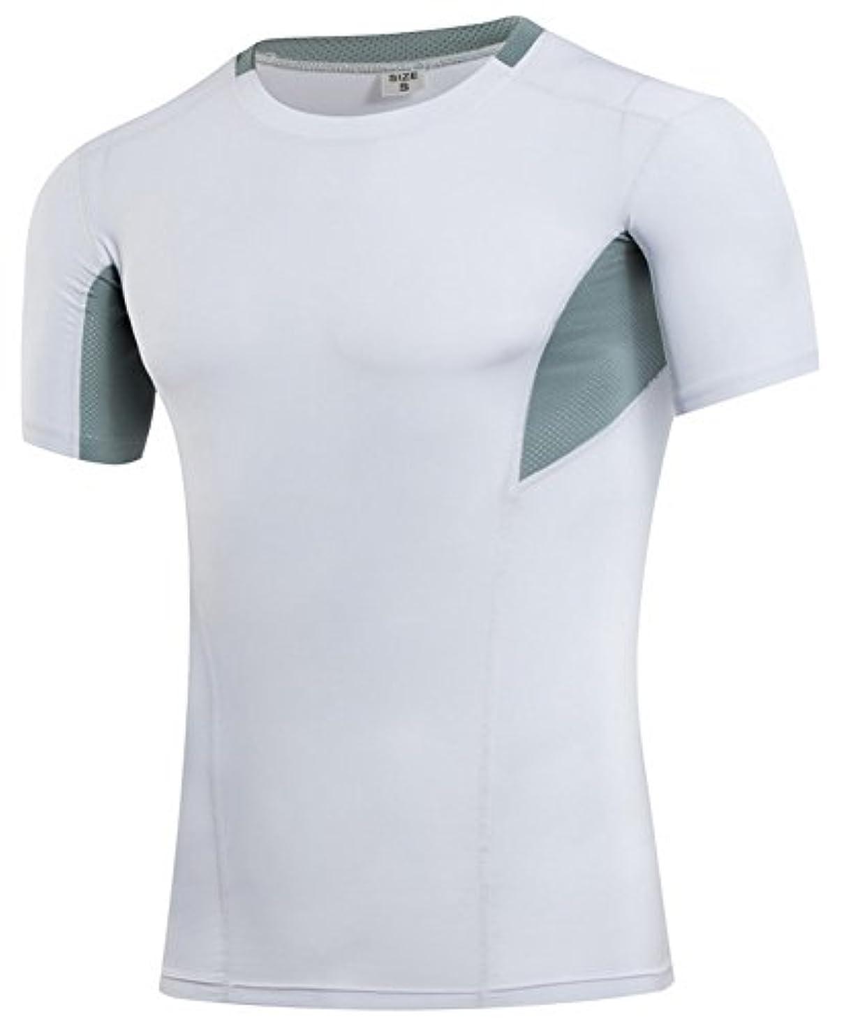 芽小数生態学Vocni(ワクニー)加圧シャツ メンズ 加圧インナー メンズ コンプレッションウェア 加圧Tシャツ 男性 背筋補正スポーツ 姿勢補助 サポーター メンズインナー 半袖