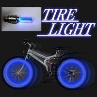自転車 安全 対策 タイヤ ライト 青色 2個を1組で販売