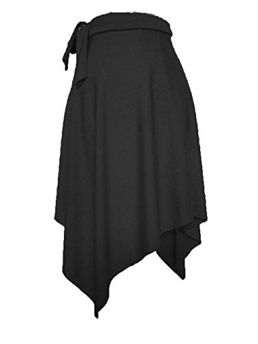 RIKOUZY(リコウゼワイ)ラテンダンス用スカート ベリーダンス 社交ダンス ルンバ サンバ ワルツ ヒップスカート レッスン着 ダンススカート7色展開(ブラック)