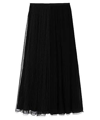 [セルフォード] ミックスプリーツスカート CWFS194056 レディース BLK 日本 36 (日本サイズ7 号相当)