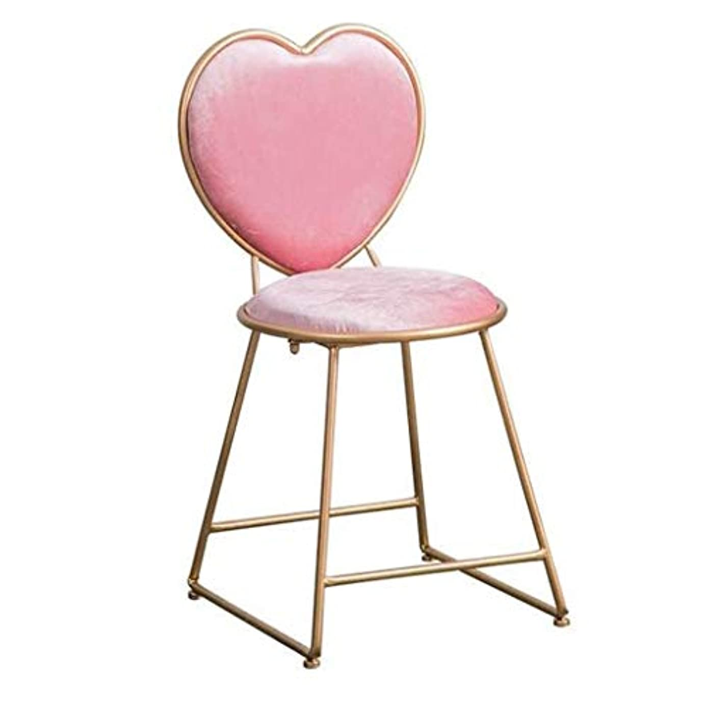 外科医現代のスペル化粧椅子ノルディックラブチェアゴールデンチェアダイニングチェアアイアンダイニングチェアネットレッドホテルゴールデンチェアクリエイティブチェアベッドルームリビングルームメタル化粧椅子,Pink,45*36*80CM