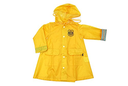 【子供服】 Kids Foret (キッズフォーレ) エンブレムプリント無地レインコート S~L B81832