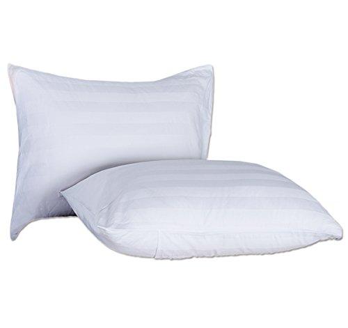 MittaGonG 【カバー付】 洗える 安眠 枕 ホテル仕様 (ホワイト 45X75cm シングル)