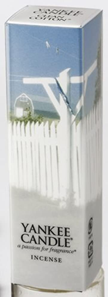 土器印象派意義YANKEE CANDLEインセンス 「 クリーンコットン 」