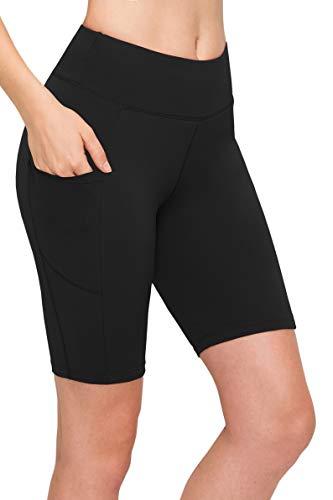 Always Bike Shorts Women Leggings - High Waisted Stretch Workout Yoga Running Gym Pants - Black - One Size