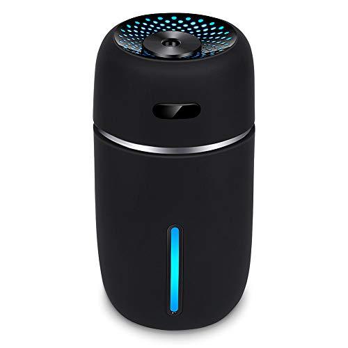 卓上 加湿器 USB ペットボトル 超音波式 小型 200ml 大霧量 水漏れ防止 28dB静かに潤い 10時間加湿 交換用の給水芯付 2018最新バージョン (ブラック)