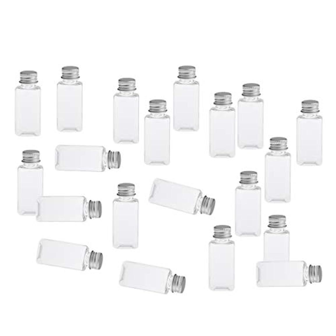 感じヒギンズブラウス全8色 PETボトル 空のボトル 小分け用 化粧品 香水 エッセンシャルオイル 漏れ防止 約20個 - クリアシルバー