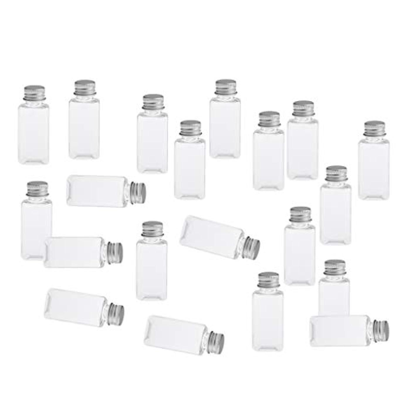 下向きマラウイ苦悩全8色 PETボトル 空のボトル 小分け用 化粧品 香水 エッセンシャルオイル 漏れ防止 約20個 - クリアシルバー