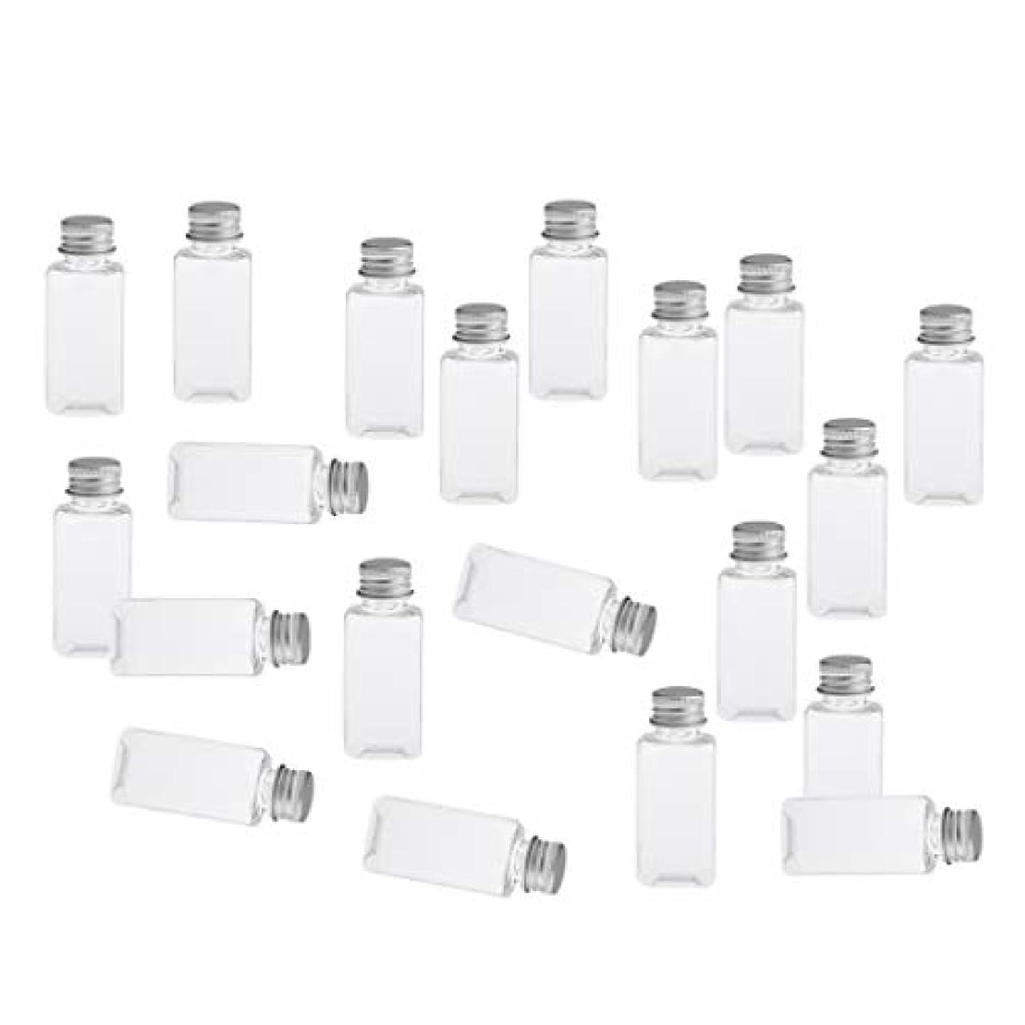 バンクたらいエクスタシー全8色 PETボトル 空のボトル 小分け用 化粧品 香水 エッセンシャルオイル 漏れ防止 約20個 - クリアシルバー