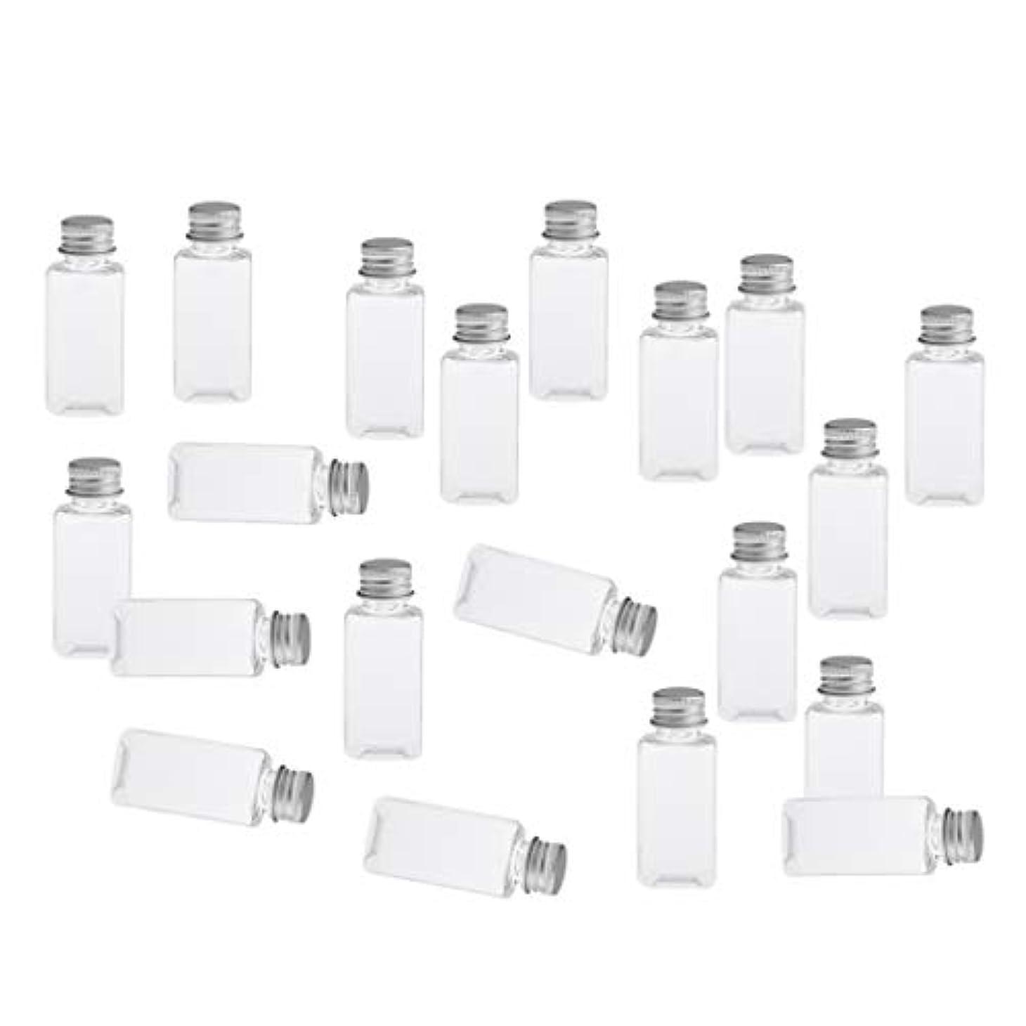 練る時折北極圏全8色 PETボトル 空のボトル 小分け用 化粧品 香水 エッセンシャルオイル 漏れ防止 約20個 - クリアシルバー