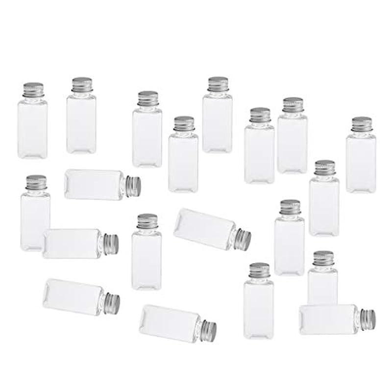 用語集に対して愛全8色 PETボトル 空のボトル 小分け用 化粧品 香水 エッセンシャルオイル 漏れ防止 約20個 - クリアシルバー