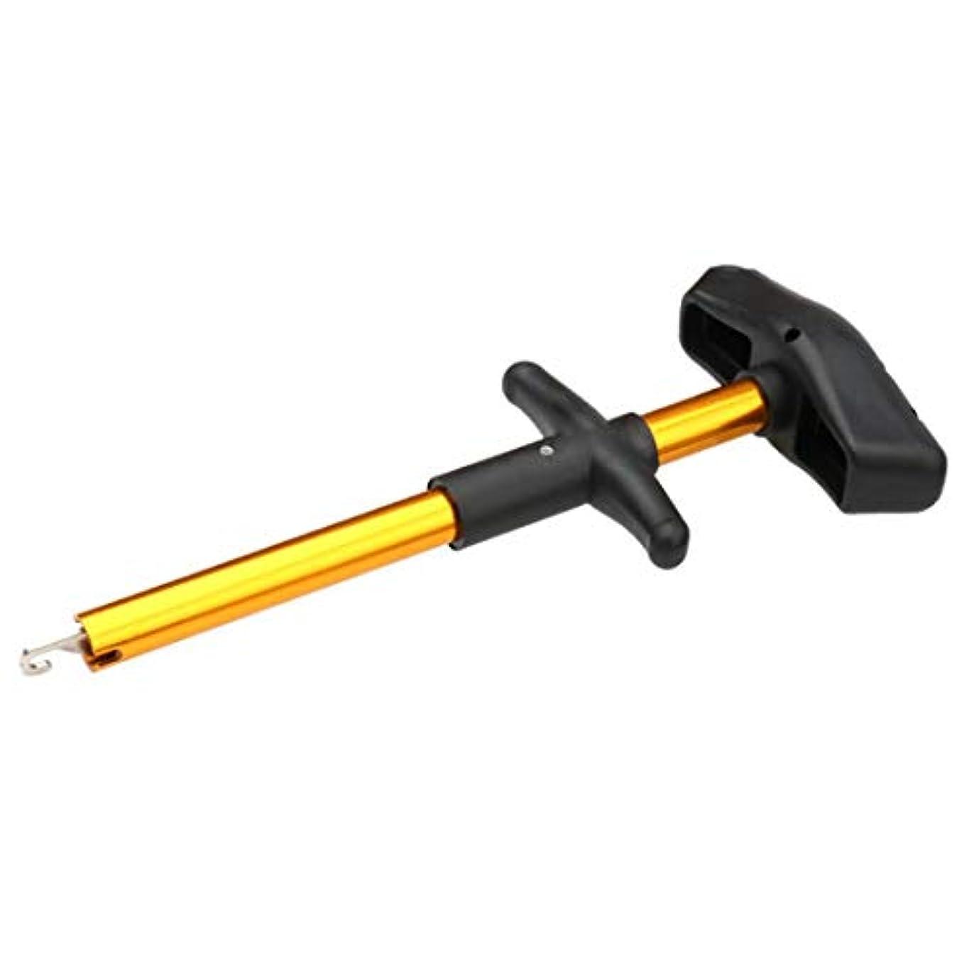 きょうだいマーキーフォルダノウ建材貿易 釣り糸ツールマニュアルアルミ棒を使ったロードサブ用結び目ツール (色 : イエロー)