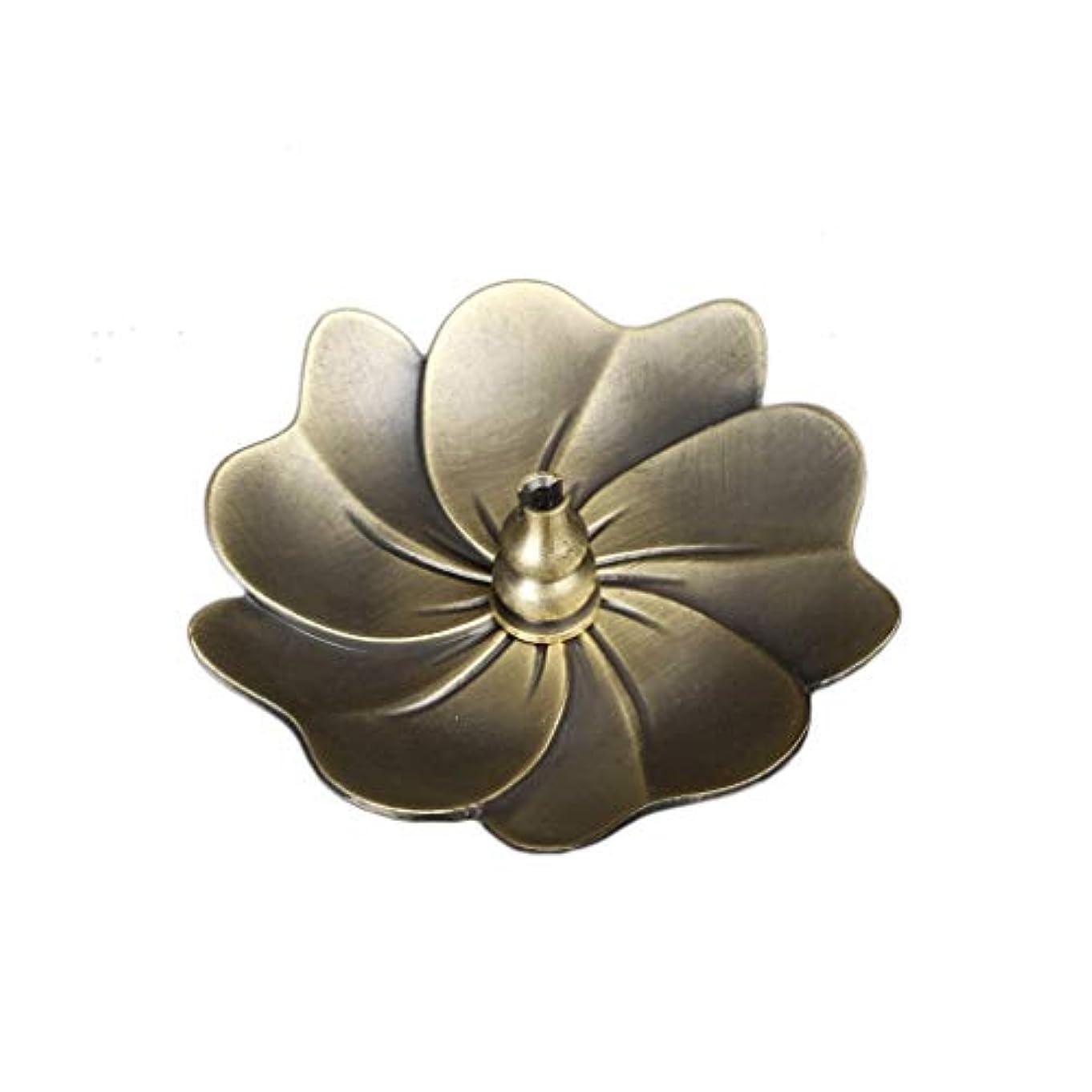 アンビエント特別な偉業蓮の香バーナーヴィンテージブロンズ香スティックコイルホルダーアッシュキャッチャートレイプレートホーム仏教の装飾誕生日香ホルダー (Color : C)