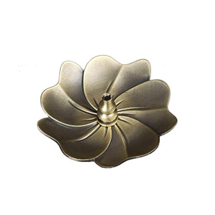 概してモネ広々とした蓮の香バーナーヴィンテージブロンズ香スティックコイルホルダーアッシュキャッチャートレイプレートホーム仏教の装飾誕生日香ホルダー (Color : C)