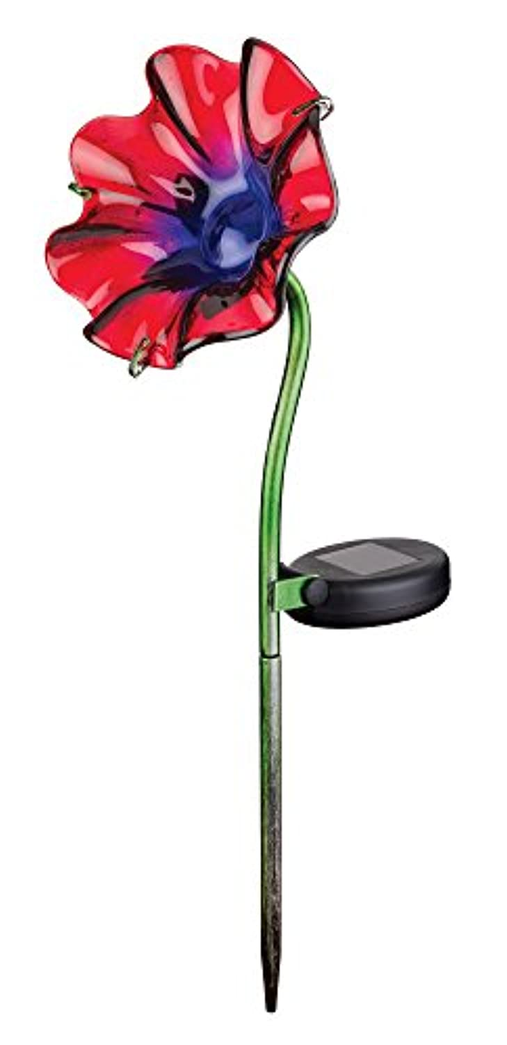 Regal Art & Gift Purple / Red Mini Solar Poppy Garden Stake by Regal Art & Gift