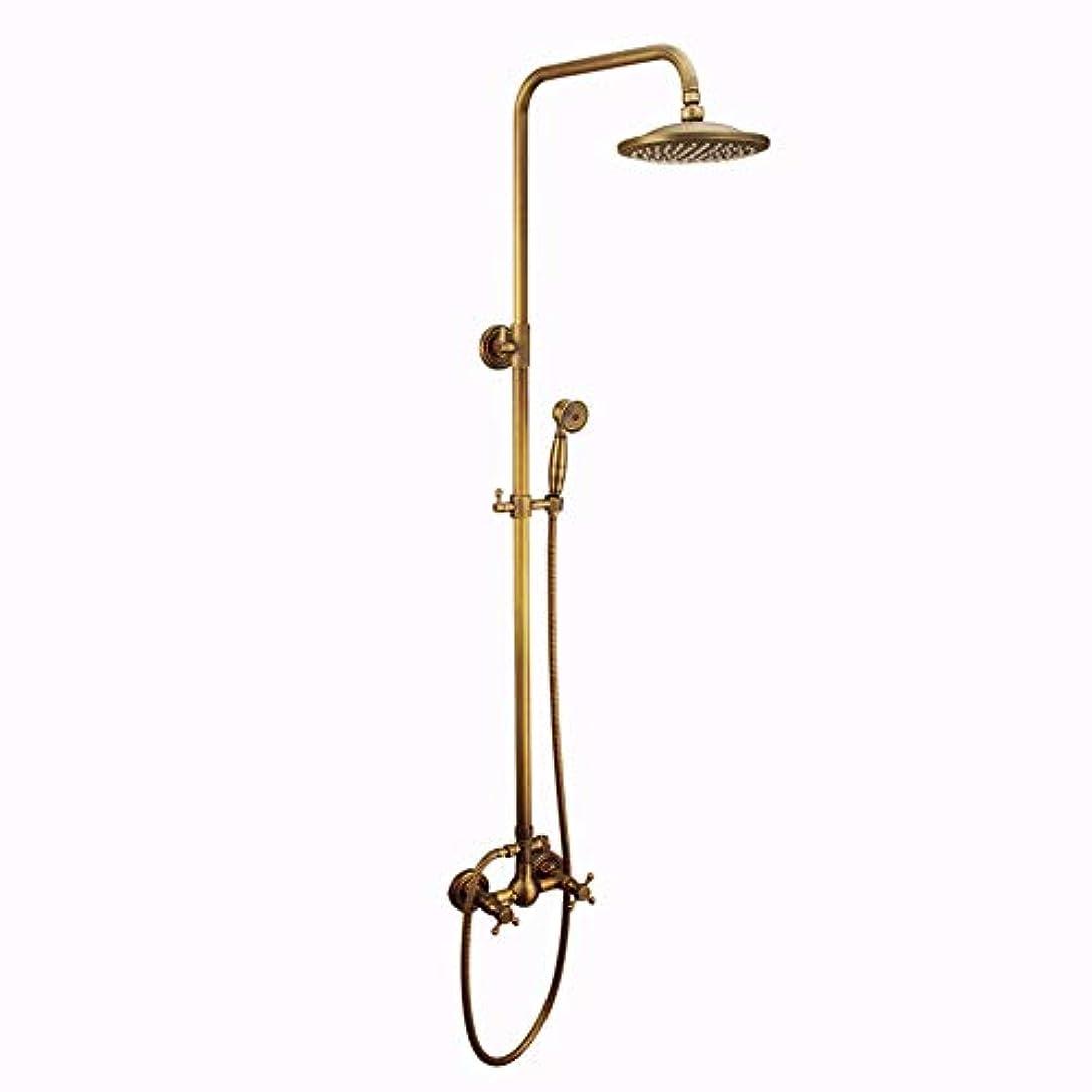 スタック逃す解放シャワーシステム、バスルームシャワーミキサーセットヴィンテージラグジュアリーシャワーセット銅スタイルのバスルームシャワー