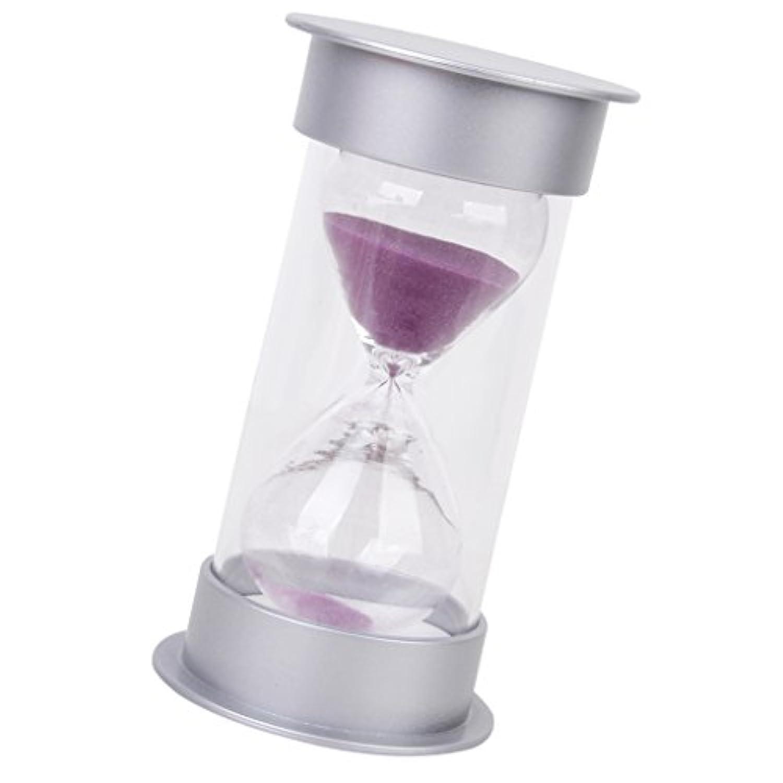 【ノーブランド品】砂時計 タイマー サンドタイマー 透明感 5/10/15/30分計 (30分計, ピンク)