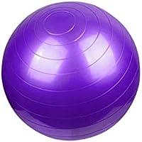 KUKUYA(ククヤ) バランスボール ヨガボール フットポンプ付き 55cm・65cm・75cm アンチバースト エクササイズ ダイエット 空気入れ インナーマッスル