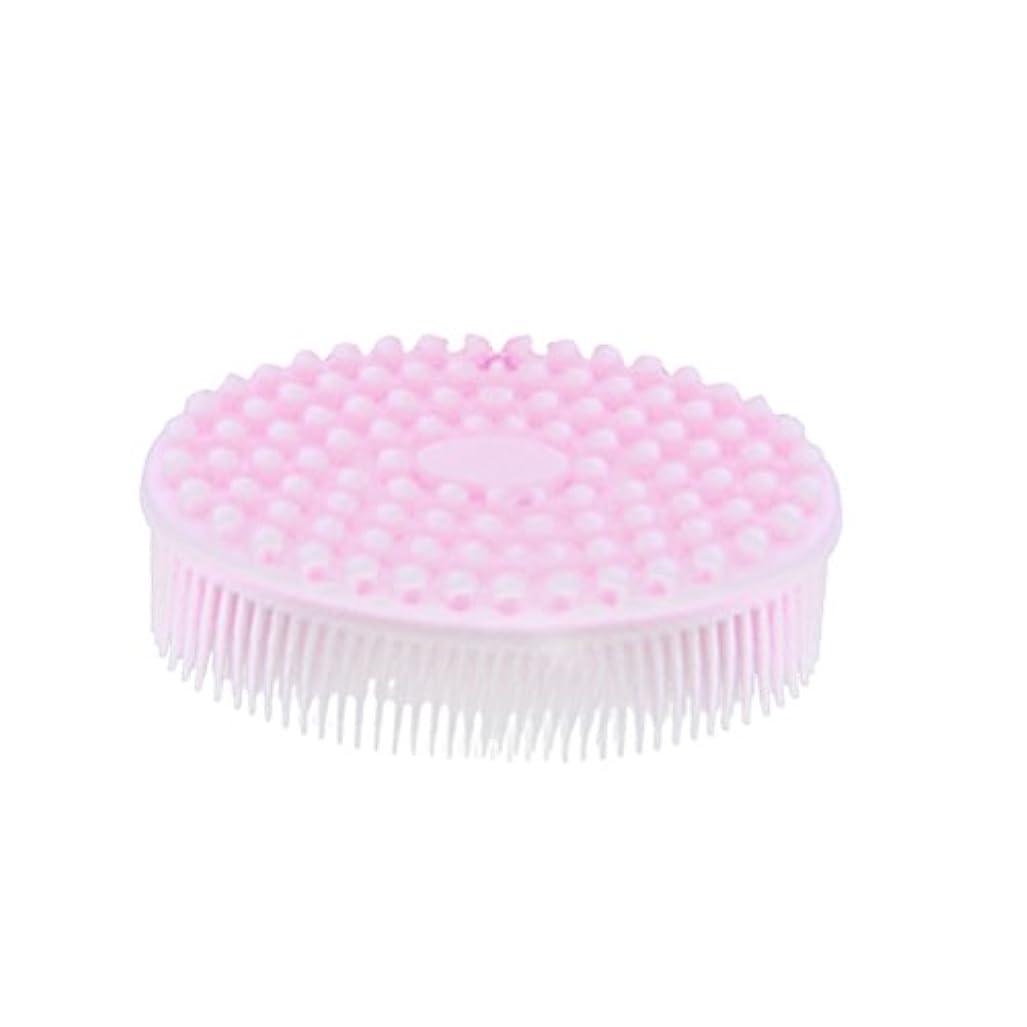 なぞらえる芝生待ってSUPVOX シャワーボディー用シリコンボディブラシ剥離ブラシマッサージブラシ(ピンク)