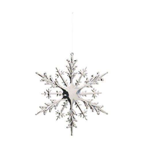 シャインスノーフレーク(S)(1ケ/パック)(シルバー)【クリスマスオーナメント(雪)】