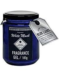 アロマエッセンスブルーラベル フレグランスジェル185g ホワイトムスク(消臭除菌 日本製 誰もが好む香り)