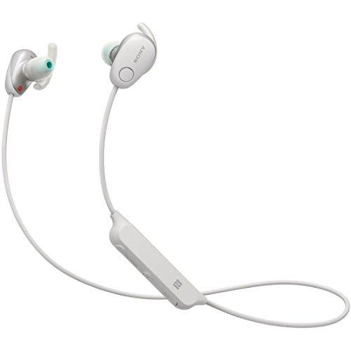 ソニー SONY ワイヤレスノイズキャンセリングイヤホン WI-SP600N WM : Bluetooth対応 NFC接続対応 防滴仕様 2018年モデル ホワイト