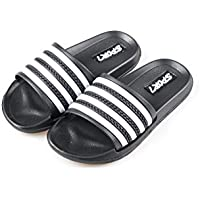 Ku-lee Kids Lightweight Slide Sandals- Wearproof Slides Sandals Shoes for Indoor or Outdoor-Flexible House Slipper Sport Slides for Boys Girls