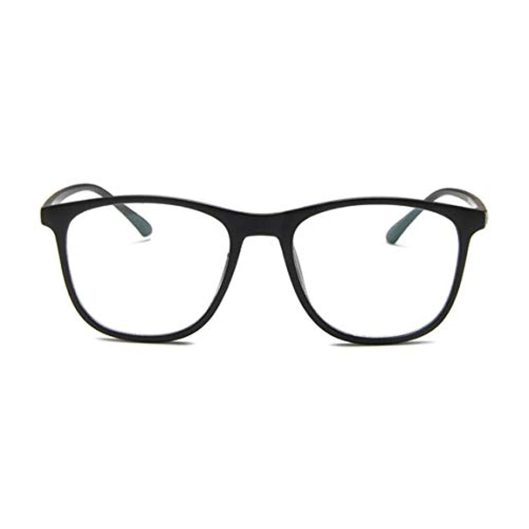 高い継承年金韓国の学生のプレーンメガネの男性と女性のファッションメガネフレーム近視メガネフレームファッショナブルなシンプルなメガネ-マットブラック