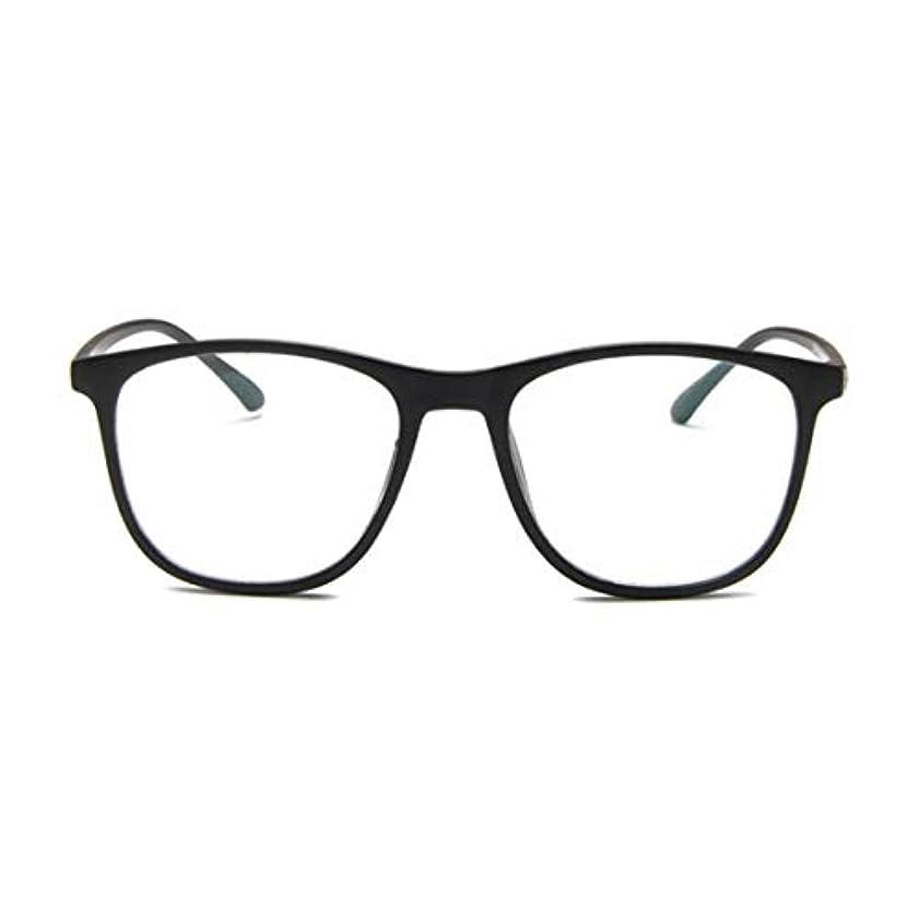 気球承認ブレーキ韓国の学生のプレーンメガネの男性と女性のファッションメガネフレーム近視メガネフレームファッショナブルなシンプルなメガネ-マットブラック