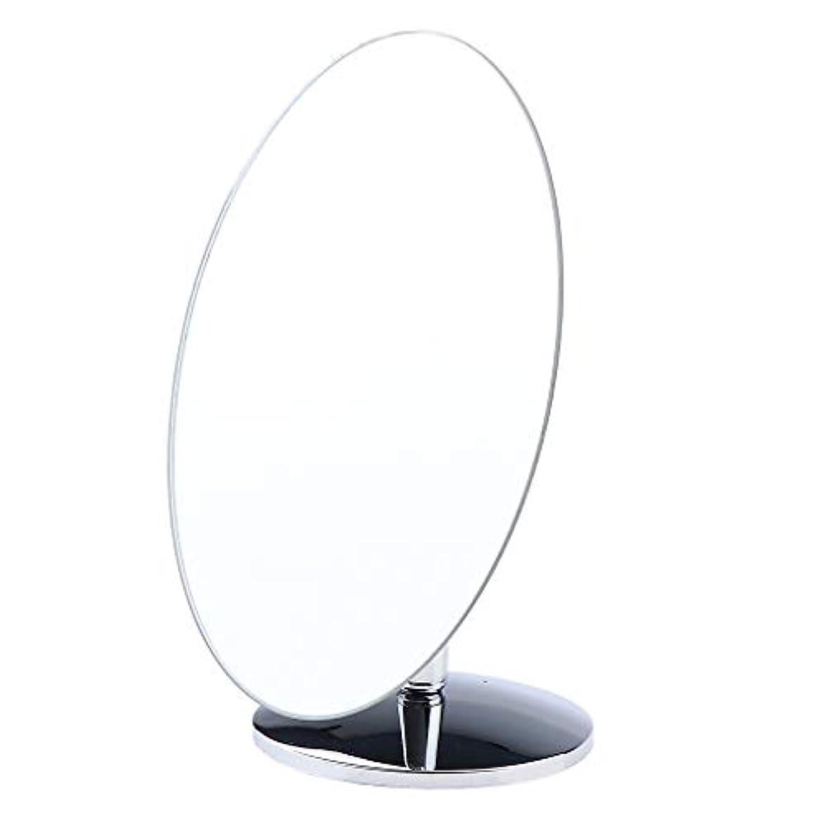 虫すすり泣き低下SM SunniMix 化粧鏡 スタンド 卓上 化粧 鏡 360度のスイベル ミラー 卓上ミラー バス 4タイプ選べ - 楕円形小