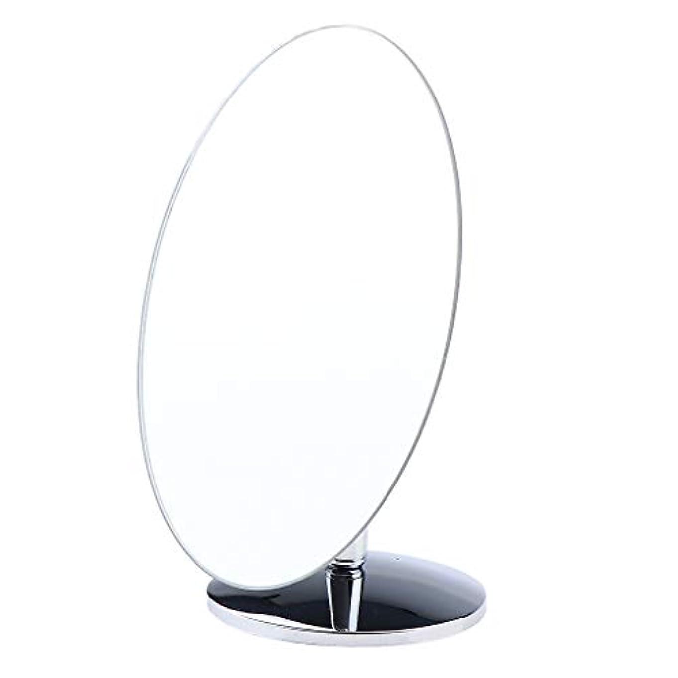 アストロラーベ頭蓋骨ゆるくSM SunniMix 化粧鏡 スタンド 卓上 化粧 鏡 360度のスイベル ミラー 卓上ミラー バス 4タイプ選べ - 楕円形小