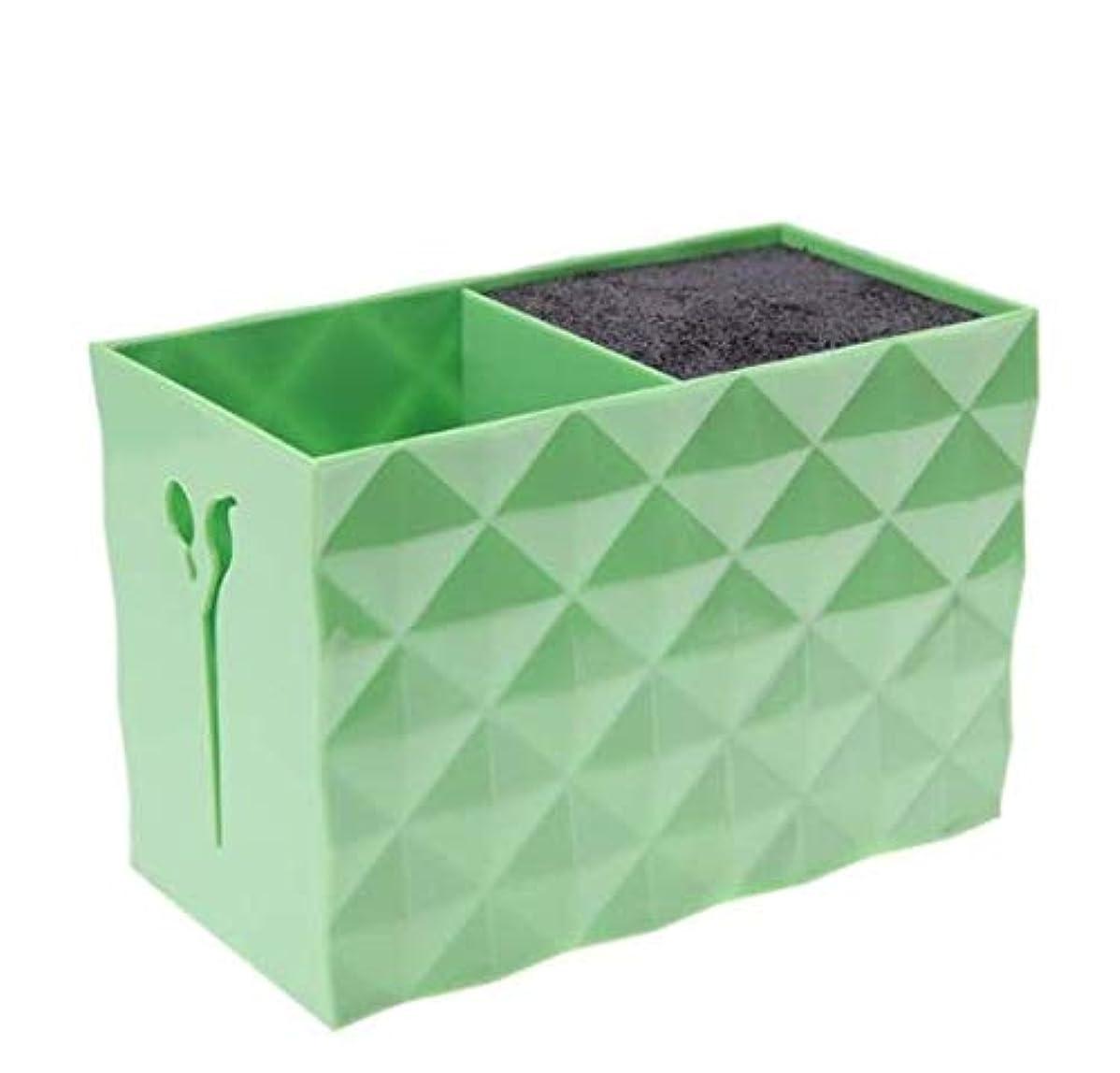 開発エイリアス考案するLivemarket プロのアクセサリー非スリップソケット髪シザー櫛ポットスタンドケーススタイリングサロンヘアクリップ人気の収納ボックス (グリーン)