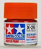 タミヤカラー アクリルミニ X-26 クリヤーオレンジ 光沢