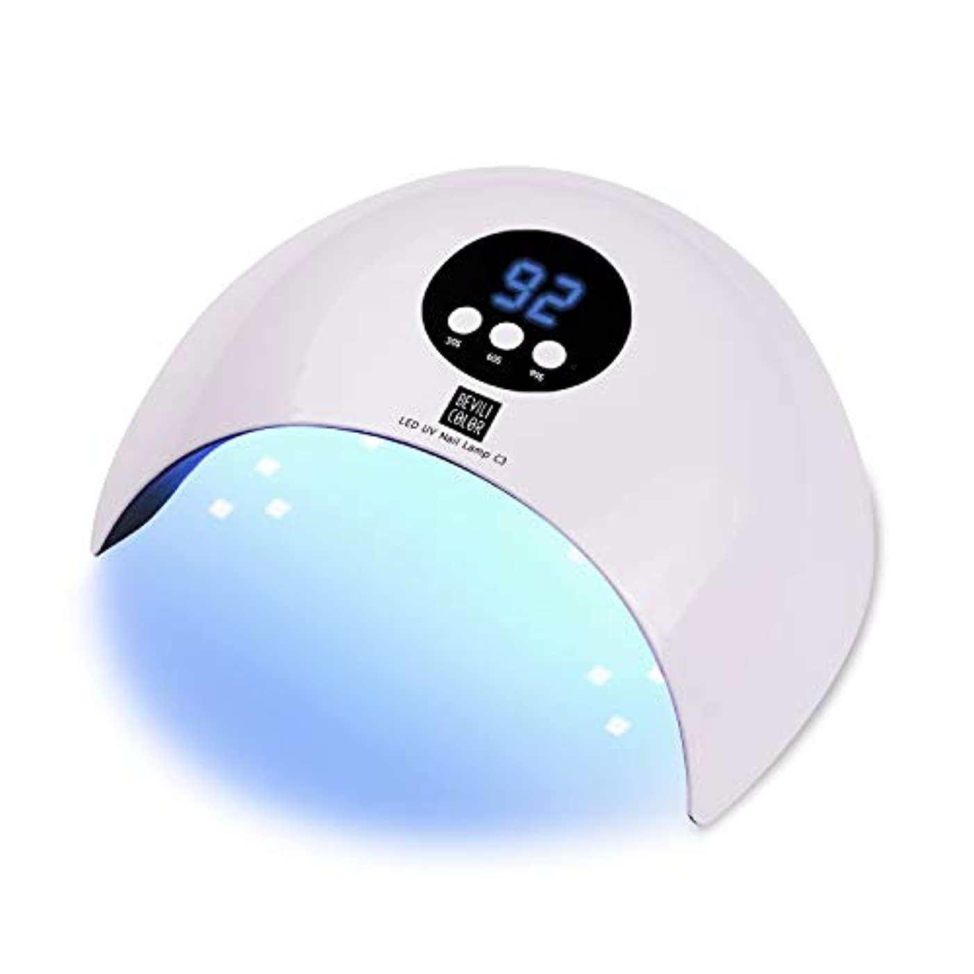 社会学いっぱい結婚式硬化ライト UVライト ネイルドライヤー LED硬化ライト 自動センサー付き 3段階タイマー設定 36w高速硬化ジェルネイルライト ジェルネイル用 液晶ディスプレー (ホワイト)