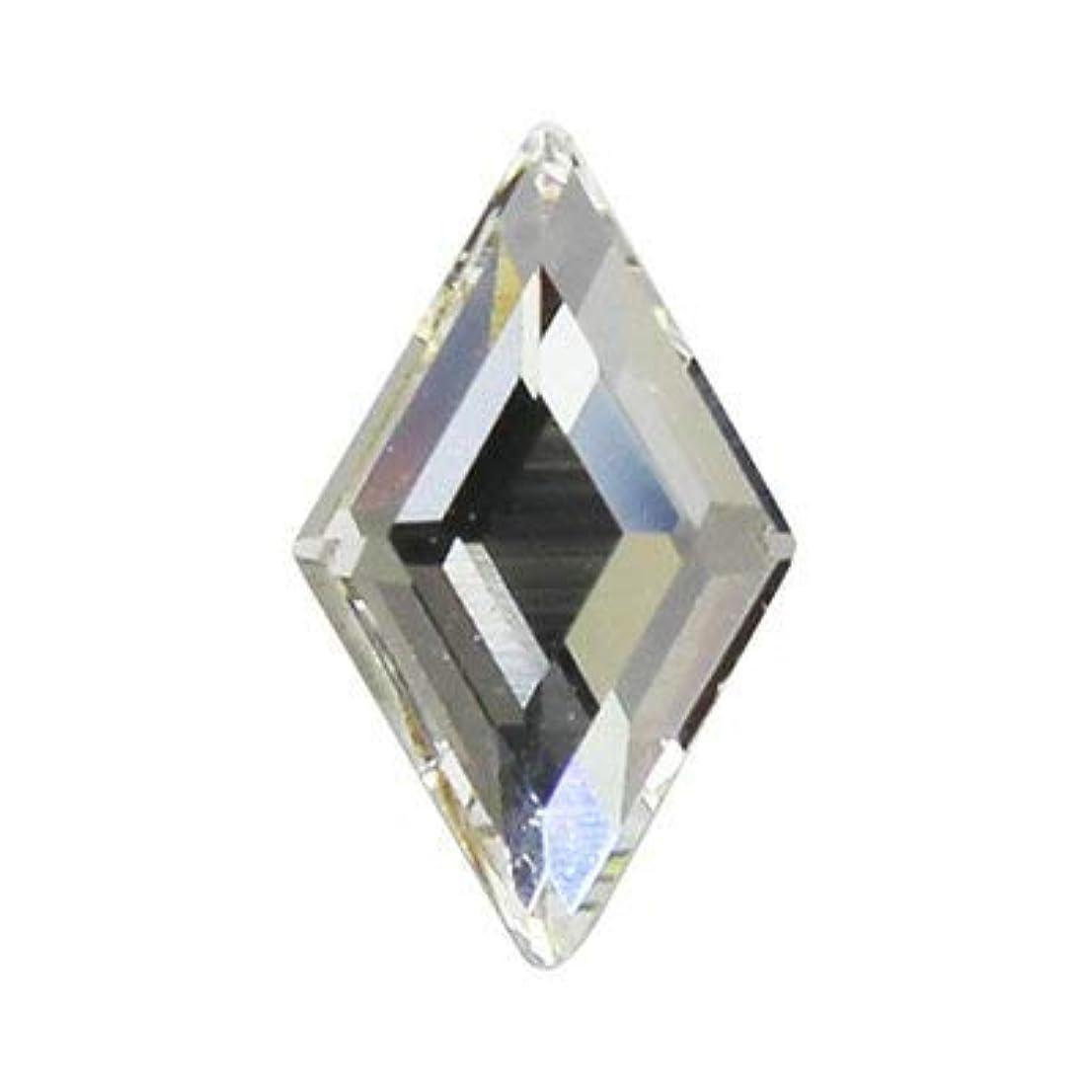 ほのか雄弁な病弱SWAROVSKI クリスタル #2773 ダイヤモンド 9.9×5.9mm 2p