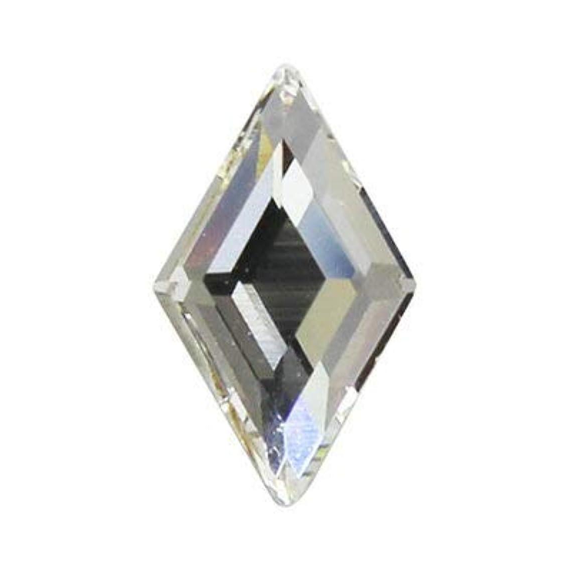 講堂等結紮SWAROVSKI クリスタル #2773 ダイヤモンド 9.9×5.9mm 2p