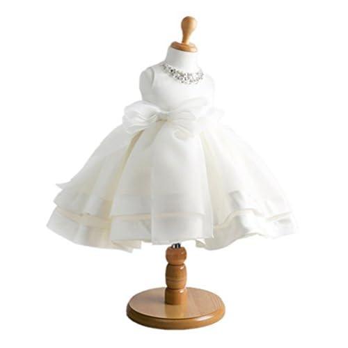 (ケイヨウ) JinYangガールズ 子供服 発表会 結婚式 二次会 ふわふわ ワンピース フォーマル ドレス ホワイト 3