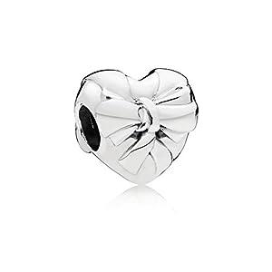 [パンドラ] PANDORA Brilliant Heart Bow チャーム (シルバー) 797303