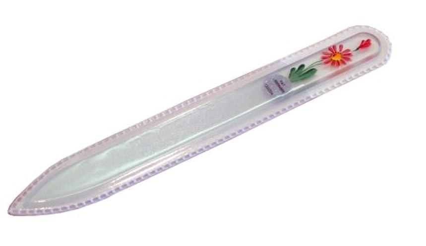 クリップ蝶ダース知的ブラジェク ガラス爪やすり 140mm 片面タイプハンドペイント#163R