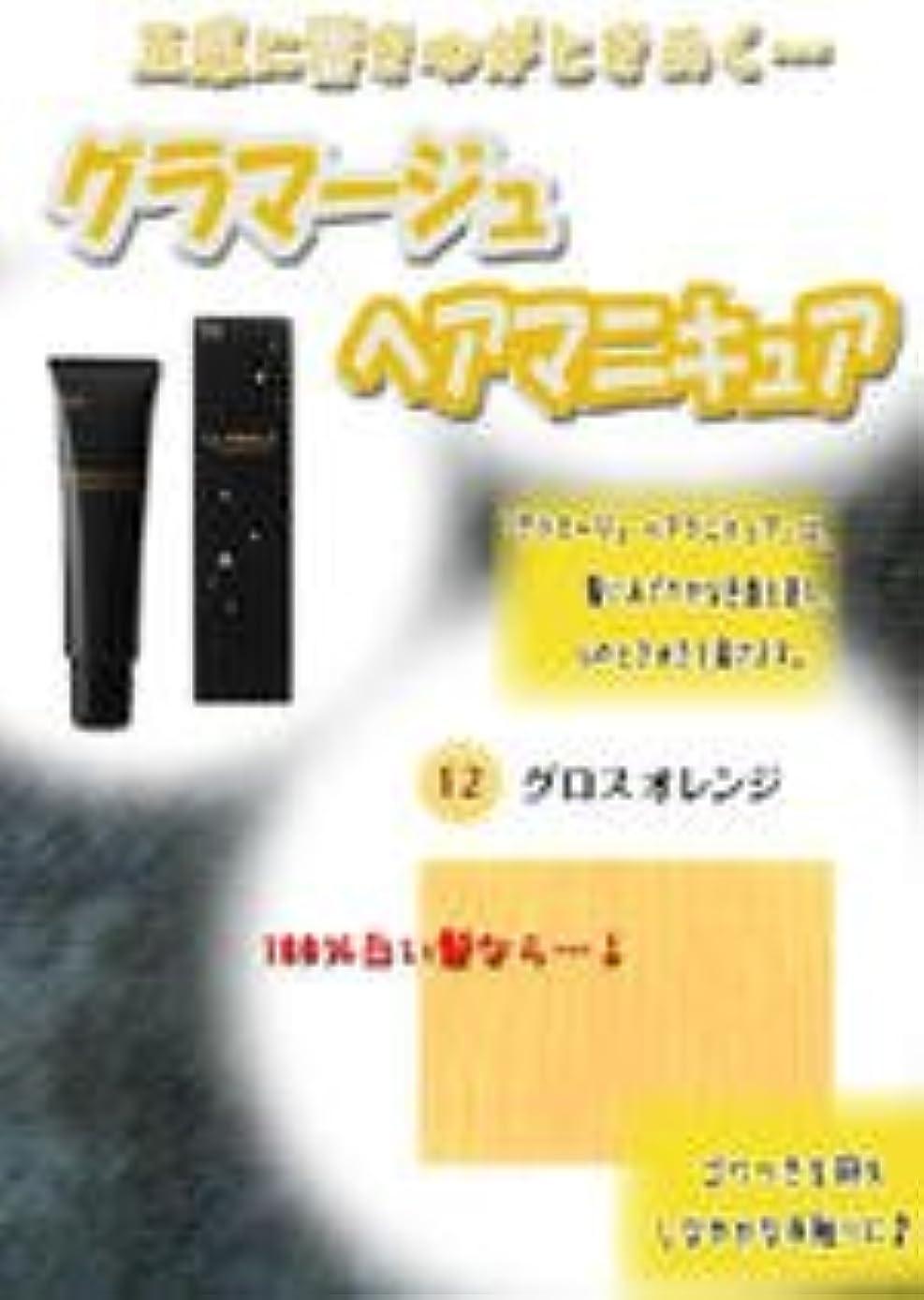 脆い化学薬品まろやかなHOYU ホーユー グラマージュ ヘアマニキュア 12グロスオレンジ 150g 【グロス系】