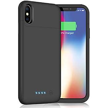 29802451de iPhoneX/XS/10 対応 バッテリー内蔵ケース 5200mAh バッテリーケース 薄型 軽量 大容量 充電ケース 急速充電 コードレス  iPhoneX/XS/10 対応 ケース型 ...