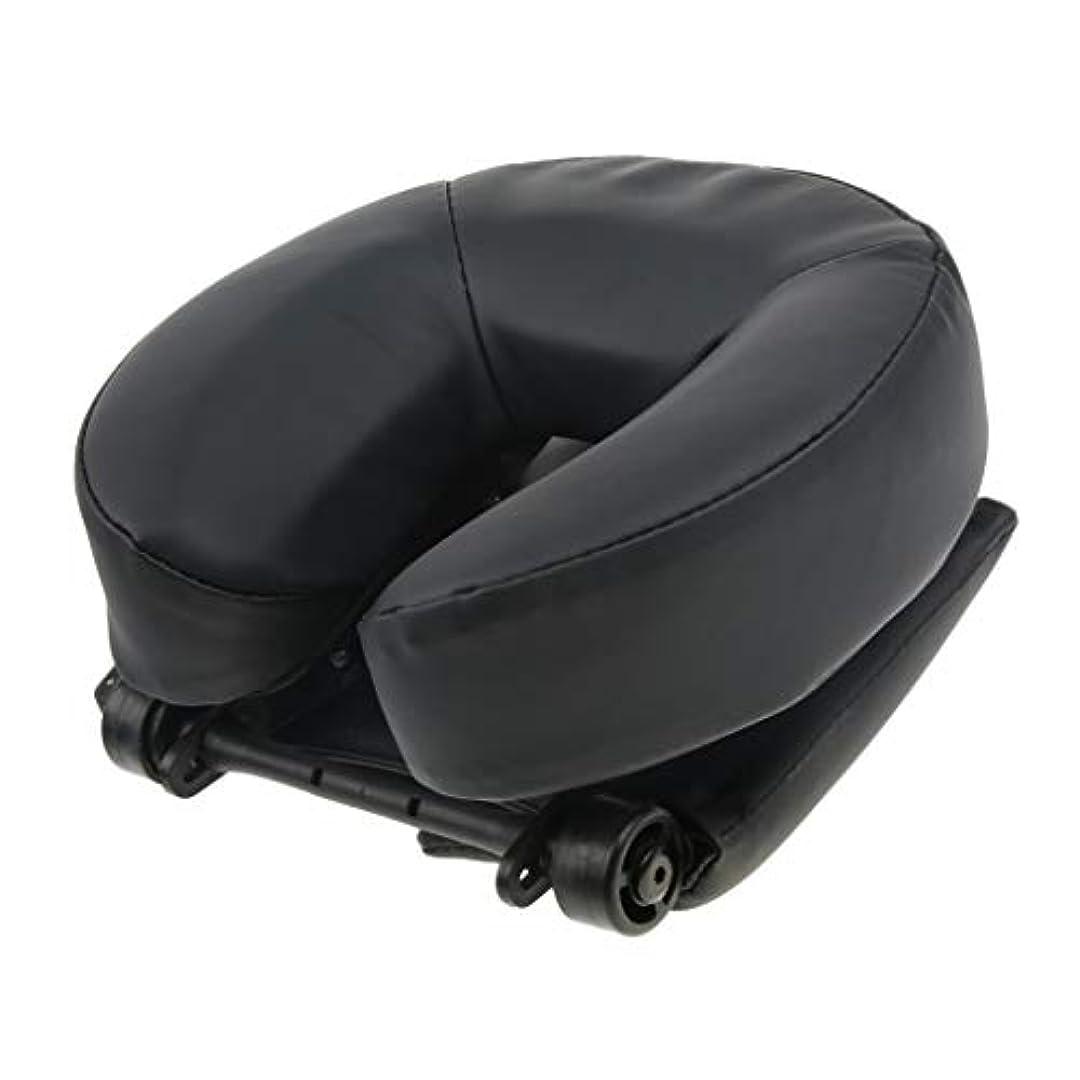 のためでも順応性Baoblaze サロン スパ用 顔マクラ マッサージ用クッション 顔枕 首枕 ネックピロー 高密度フォーム 2色選ぶ - ブラック